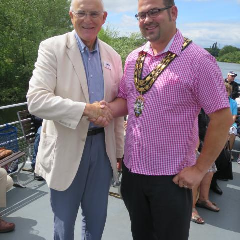 OPCSG Chairman John Grundy with Witney Mayor Chris Woodward